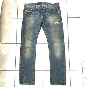 Diesel Thanaz Mens Vintage Blue Slim Jeans